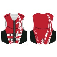 AIRHEAD SWOOSH NEOLITE SKI VEST, ADULT-XL NeoLite Vest, Red Life Jacket
