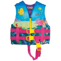 AIRHEAD NYLON LIFE VEST-Child, Up to 30-50 lbs, Reef Design