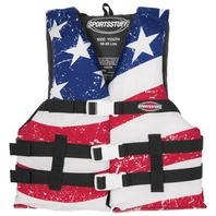 AIRHEAD  STARS & STRIPES GENERAL BOATING VEST, Youth 50-90 lbs