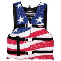 AIRHEAD  STARS & STRIPES GENERAL BOATING VEST, ADULT-Oversized