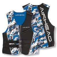 AIRHEAD CAMO COOL MEN'S NEOLITE SKI VEST-Small NeoLite Vest, Blue Camo