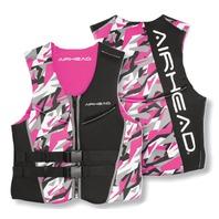 AIRHEAD CAMO COOL LADIES' NEOLITE SKI VEST-Small NeoLite Vest, Pink Camo