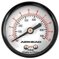 Airhead Air Pressure Gauge, 0-10 PSI