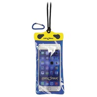 "DRY PAK WATERPROOF SMART PHONE, GPS, MP3 CASE- 4"" x 7"", Yellow/Blue"