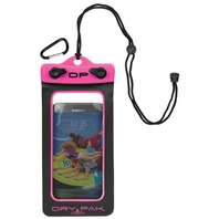 "DRY PAK SMART PHONE, GPS, MP3 CASE-Dry Pak 4"" x 7"",  Hot Pink"