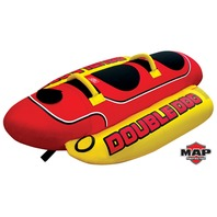 "DOUBLE DOG TOWABLE-Double Dog Tube, 2-Rider, 76"" x 44"""