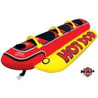 """HOT DOG TOWABLE-Hot Dog Tube, 3-Rider, 8-1/2' x 44"""""""