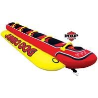 """JUMBO DOG TOWABLE-Jumbo Dog Tube, 5-Rider, 12-1/2' x  44"""""""