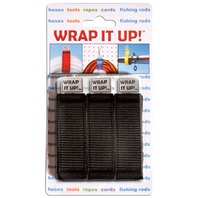 "WRAP IT UP!  LINE ORGANIZER-3-Pack, Black 12"" x 1"""
