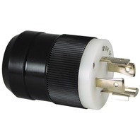 MARINCO 4-WIRE CHARGING/TROLLING SYSTEM-Trolling Motor Plug, Male, Black