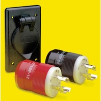 MARINCO 4-WIRE CHARGING/TROLLING SYSTEM-Complete System: Charger Plug, Trolling Motor Plug, Receptacle and Bracket