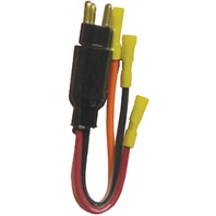 Trolling Motor PLUG, 12/24V 3-10 GA-12/24V Male Plug