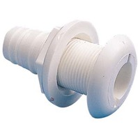 "THRU-HULL CONNECTOR, 1-1/8"" HOSE-1-1/8"" x 2-1/4"""