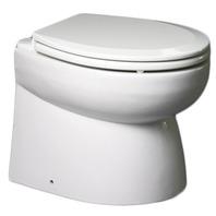 Johnson Pump Premium Low Profile Electric Flush Toilet, 12V