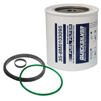 "QUICKSILVER/RACOR WATER SEPARATING FUEL FILTER, 10 MICRON-Element w/o Plastic Bowl 11/16"" Thread"