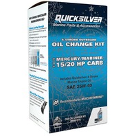 QUICKSILVER OIL CHANGE KIT-15-20HP CARB, 1 Liter 25W40