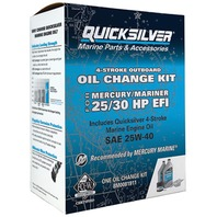 QUICKSILVER OIL CHANGE KIT-25/30HP EFI, 2 Liters 25W40