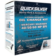 QUICKSILVER OIL CHANGE KIT-40/50/60HP EFI, 3 Liters 25W40
