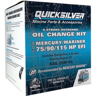 QUICKSILVER OIL CHANGE KIT-75/90/115HP EFI (1.7L) Serial No.1B366823 - 2B094995,  5 Liters 25W40