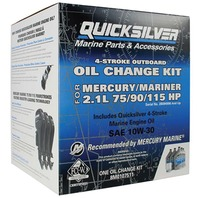 QUICKSILVER OIL CHANGE KIT-75/90/115HP EFI (2.1L) Serial No. 2B094996 & Up, 5 Liters 10W30