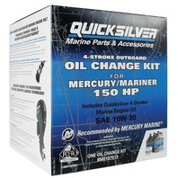 QUICKSILVER OIL CHANGE KITS-150HP, 6 Liters 10W30