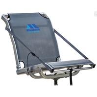 MILLENNIUM COMFORT MAX FOLD DOWN MESH SEAT, PREMIER SERIES -Folding Boat Seat, Gray