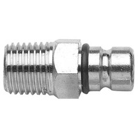 "33463-10 Fuel Tank Fitting, SUZUKI-1/4"" NPT Male Tank-Side, Chrome Plated Brass"