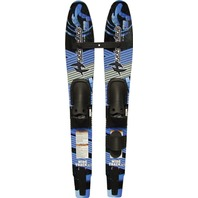 Wide Track Shaped Junior Combo/Trainer Skis, Std Bindings and Crossbar