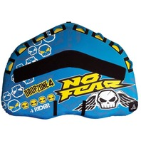 NF80 NO FEAR D-SHAPED TOWABLE-Dropzone 4 Covered Deck Tube, 4-Rider,80""