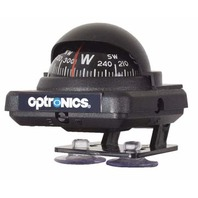 OPTRONICS LOW PROFILE COMPASS-Black w/Black Dial