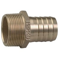 "PIPE TO HOSE ADAPTER, BRONZE, 1"" Pipe to 1"" Hose, 1-3/4"" L"