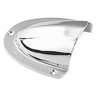 "CLAM SHELL VENTILATOR, CHROME-1-5/8"" x 1-1/2"";  7/16""H; 7/8""W"