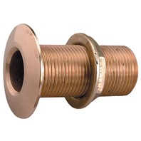 "CAST BRONZE THRU-HULL-3/4"" Pipe Size, 1-7/8"" Flange O.D., Max. Hull 1-1/2"""