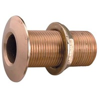 "CAST BRONZE THRU-HULL-1-1/4"" Pipe Size, 2-3/4"" Flange O.D., Max. Hull 2"""