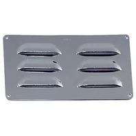 "PERKO CHROME PLATED LOUVERED VENT-8-1/2"" x 3"""