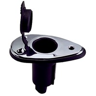 "REPLACEMENT POLE LIGHT BASE-2-Contact 5 Degree Base, 3-1/2""L x 2""W, SST"