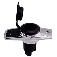 """REPLACEMENT BASES FOR PERKO BI-COLOR POLE LIGHTS-3 Contact 5 Degree Base, 3-3/4""""L x 1-3/4""""W"""