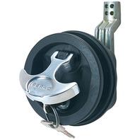 "T-HANDLE Black/Chrome Flush Lock, Offset Cam Bar Adj. 3/4""-2-3/8"", Carded"