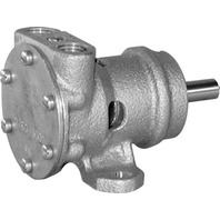 "JABSCO BRONZE ENGINE COOLING PUMP, 1/4"" PORTS- 3.7 GPM, Neoprene Impeller"