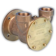 "BRONZE ENGINE COOLING PUMP, FLANGE MOUNT, 3/4"" PORTS-8.9 GPM"
