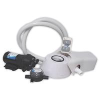 JABSCO MANUAL TO QUIET FLUSH ELECTRIC TOILET CONVERSION KIT-w/Pump, 12V