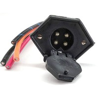 V-GROOVE TROLLING MOTOR RECEPTACLE 4-Wire Receptacle, 8 Ga., No Butt Conn.