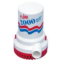 RULE SUBMERSIBLE PUMP 2000 GPH-Non-Automatic, 12V UL Listed, 6' Wire Leads