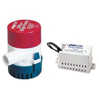 500 GPH BILGE PUMP/SWITCH COMBO -with 40A Rule-A-Matic Plus Float Switch