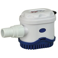 """RULE MATE  AUTO BILGE PUMP WITH TOUCH SENSOR SWITCH-1100 GPM, 4.5""""H x 6""""W x 3.25""""D"""