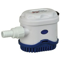 """RULE MATE  AUTO BILGE PUMP WITH TOUCH SENSOR SWITCH-750 GPM, 4.5""""H x 6""""W x 3.25""""D"""