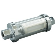 "GLASS VIEW INLINE FUEL FILTER-Fuel Filter with  3/8"", 5/16"", & 1/4"" Barbs"