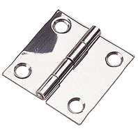 "STAINLESS STEEL BUTT HINGE, SMALL-2"" x 2"" Pair, Uses #6 Fasteners"
