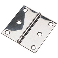 "SS BUTT HINGE, 3""-3"" x 3"", Pair, Uses #6 Fasteners"