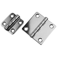 "BUTT HINGE, STAINLESS STEEL-2"" x 2"", Pair, Uses #8 Fasteners"